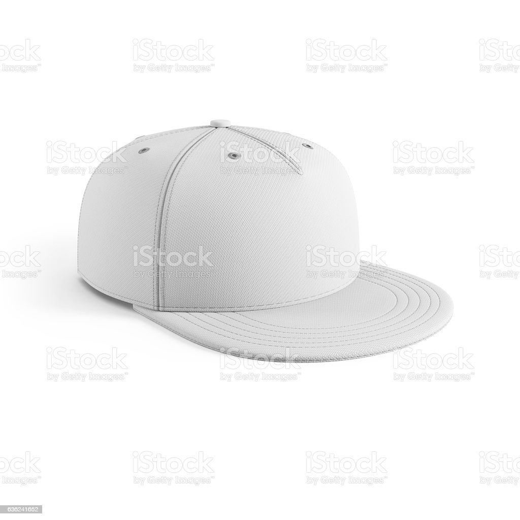 white empty baseball cap stock photo