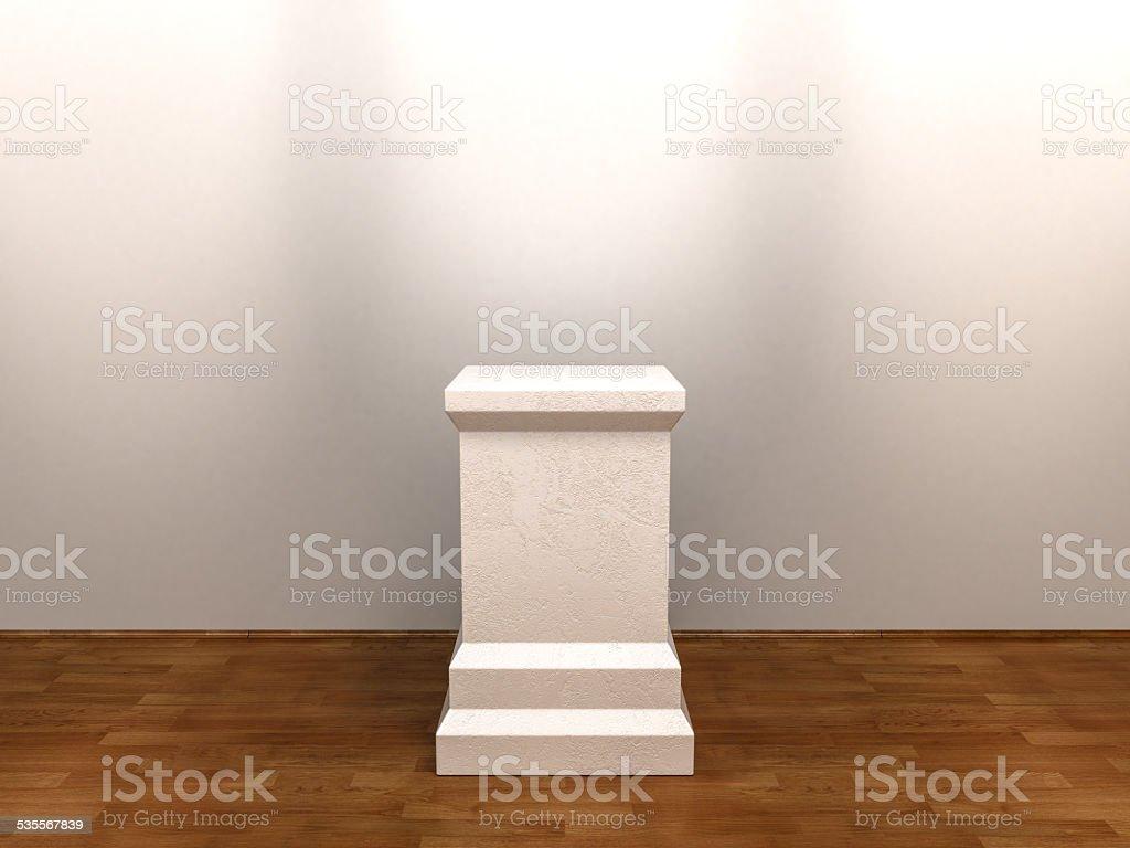 White Empty Pedestal stock photo
