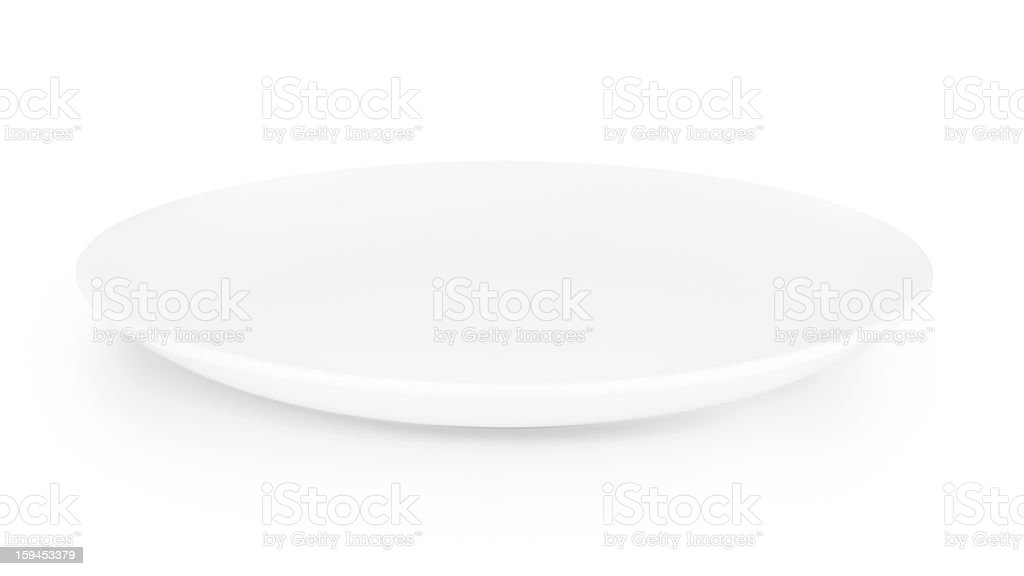 white empty plate isolated royalty-free stock photo