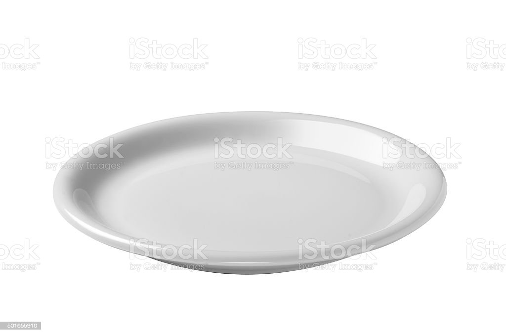 white empty plate stock photo
