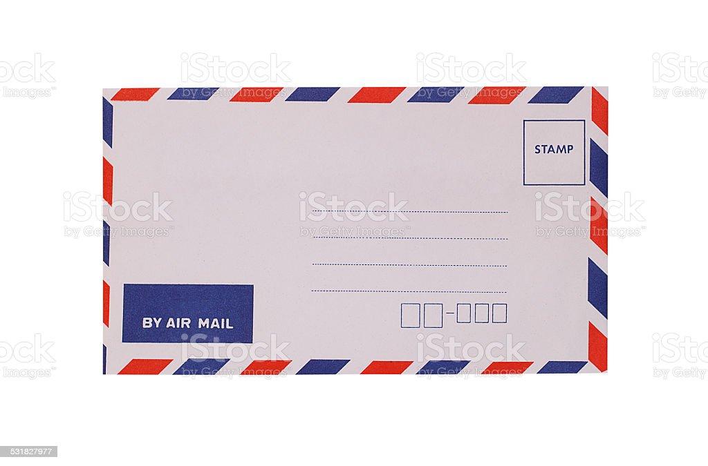 White envelope isolated on white stock photo