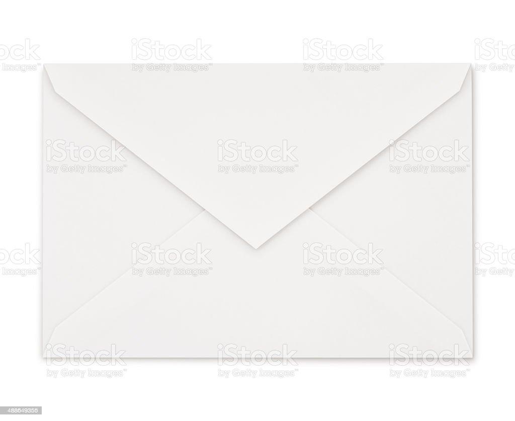 White Envelope (with path) stock photo