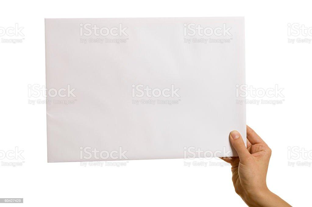white envelope royalty-free stock photo