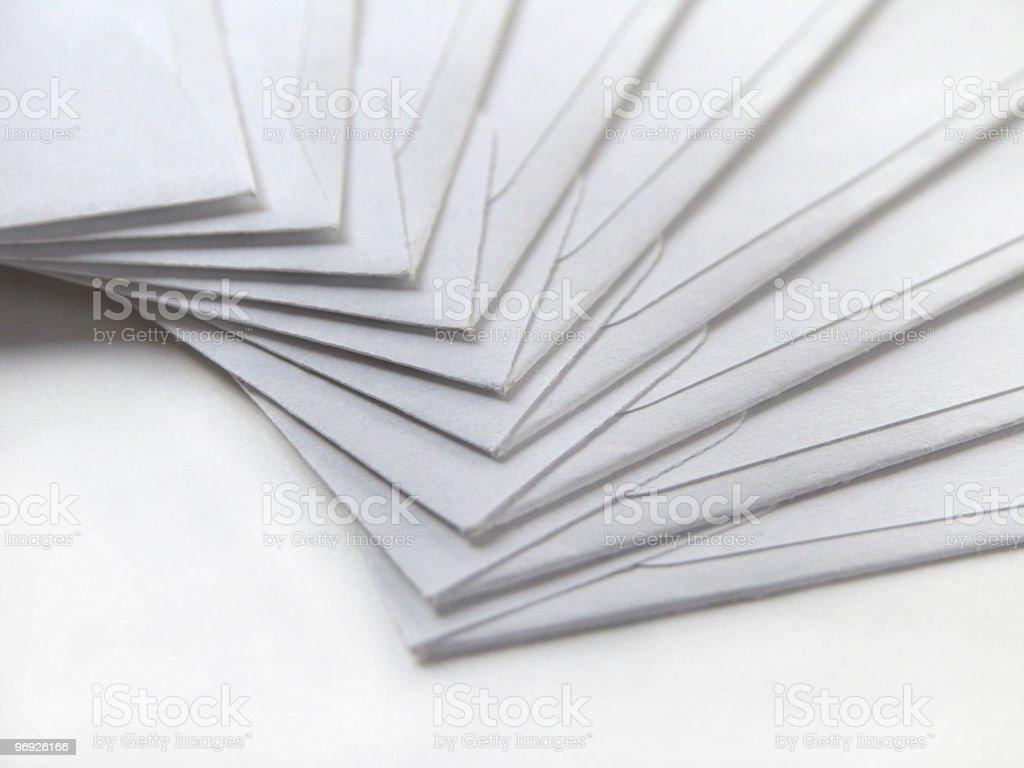 white envelopes, heavy stock stock photo