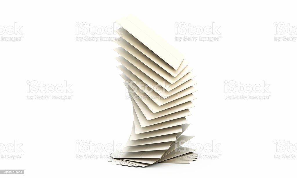 white envelopes stock photo