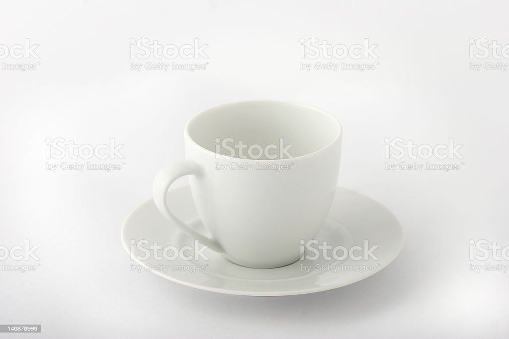 White espresso cup royalty-free stock photo