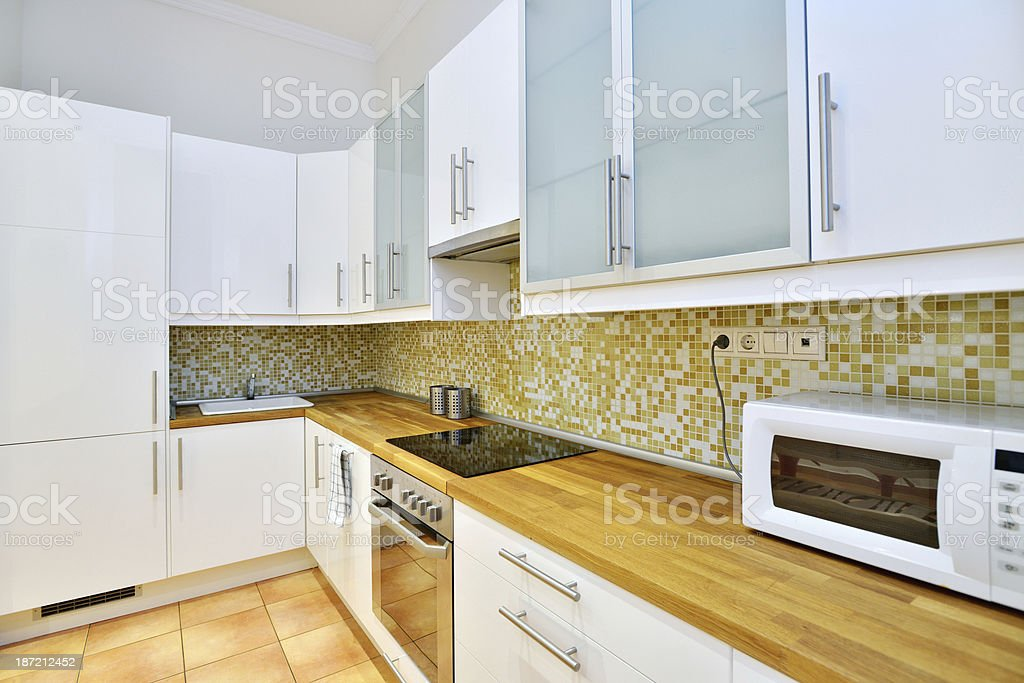 White European style kitchen royalty-free stock photo