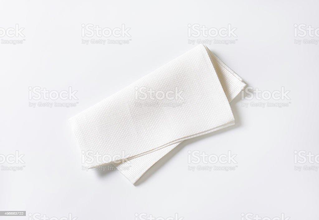 White fabric napkin stock photo