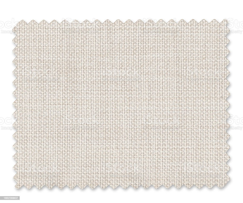 White Fabric Swatch royalty-free stock photo