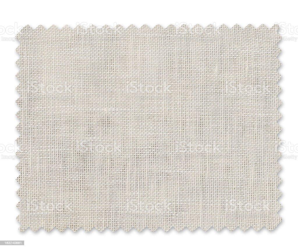 White Fabric Swatch stock photo