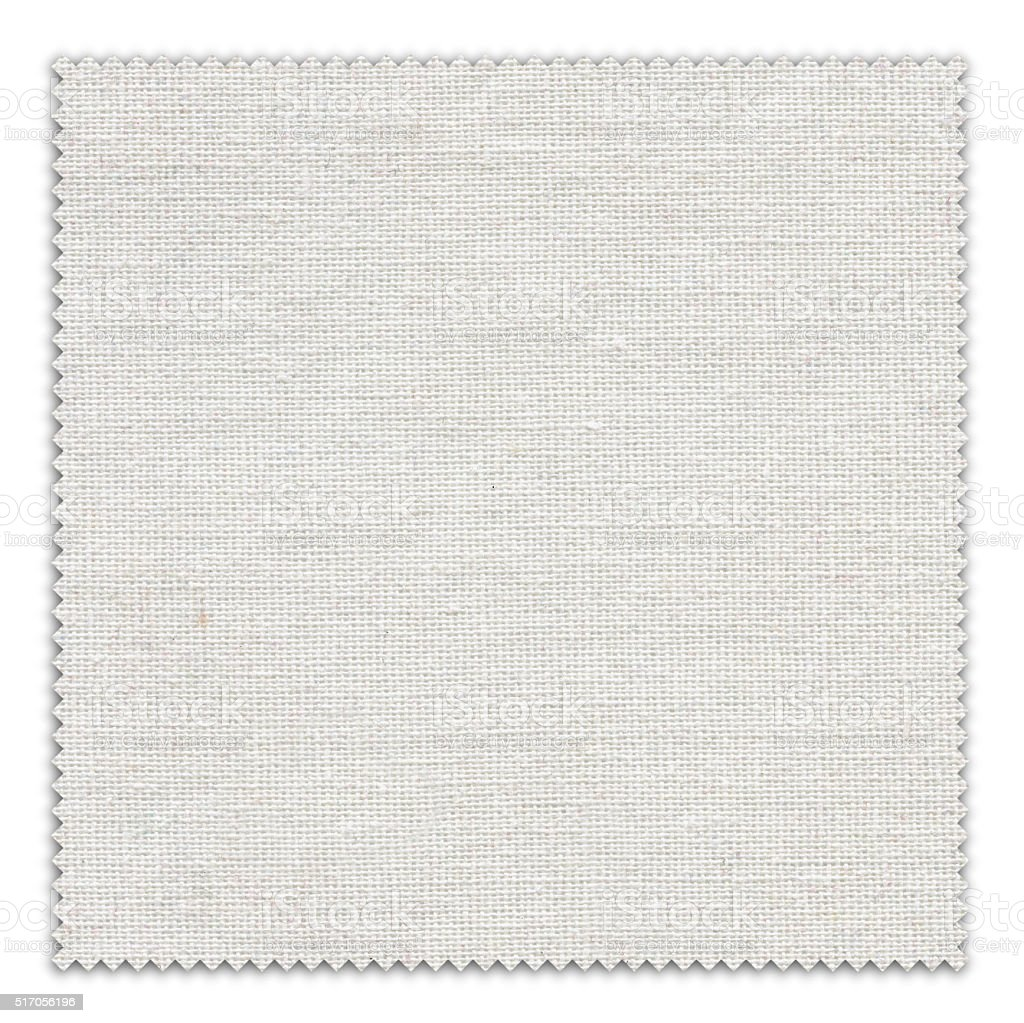 White Fabric Swatch (Clipping Path) stock photo