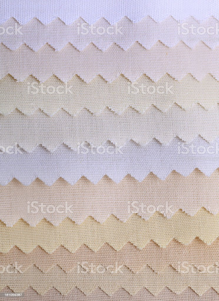 White Fabric Swatches royalty-free stock photo