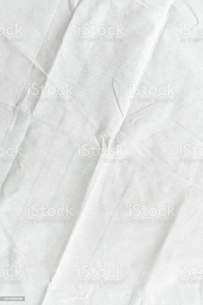 White fabric texture background stock photo