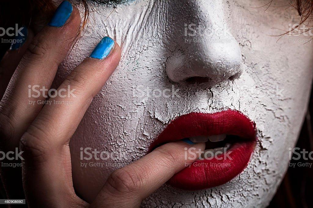 White face stock photo
