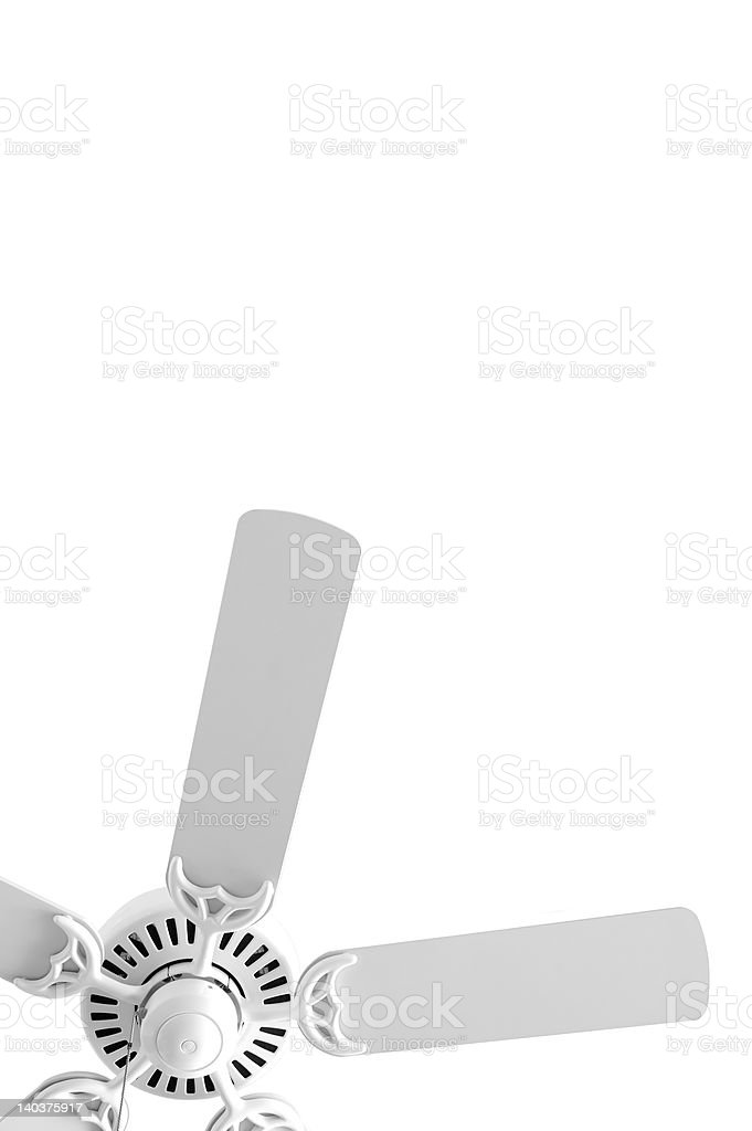 White Fan 3 stock photo