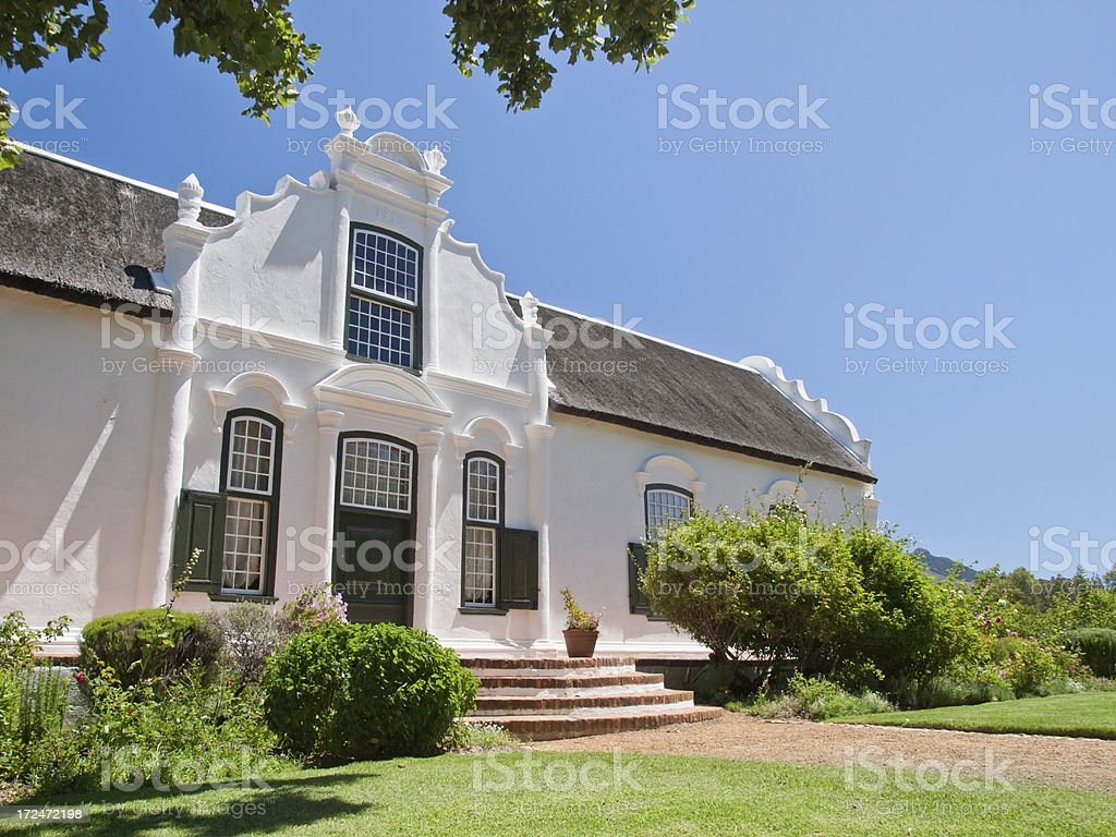 White farm House royalty-free stock photo