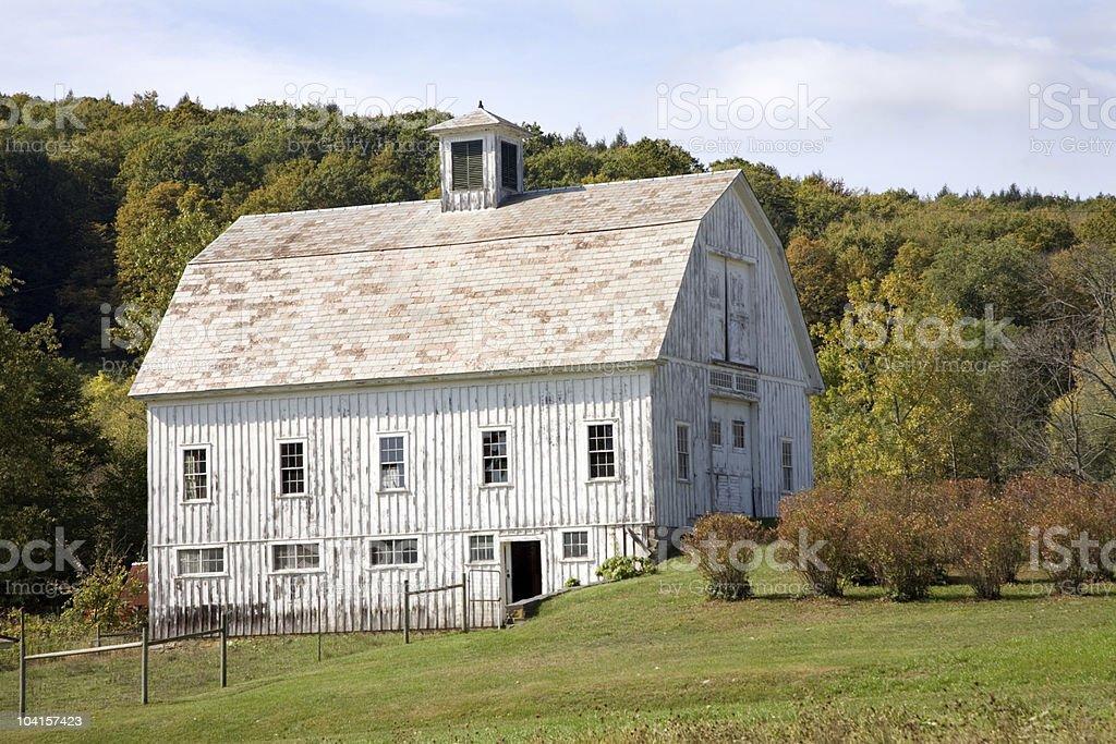 White Farmhouse royalty-free stock photo