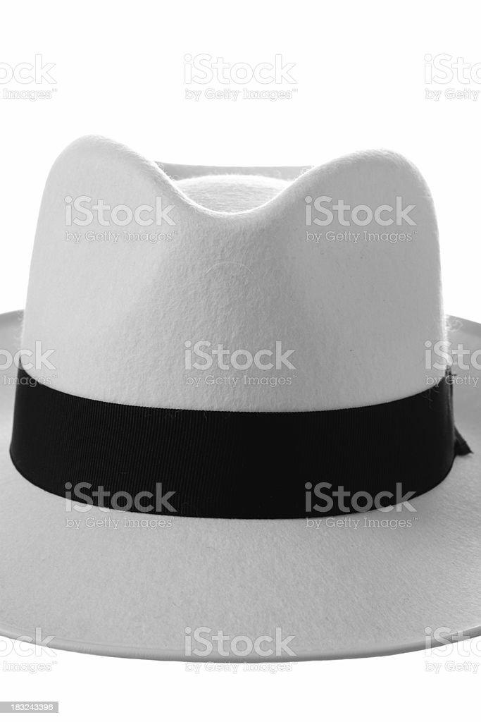 White fedora - front royalty-free stock photo