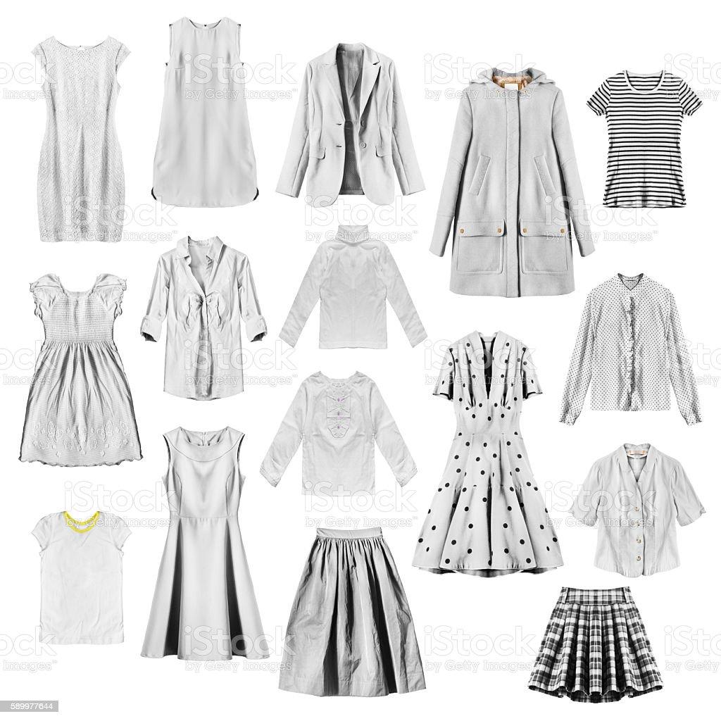 White female clothes stock photo