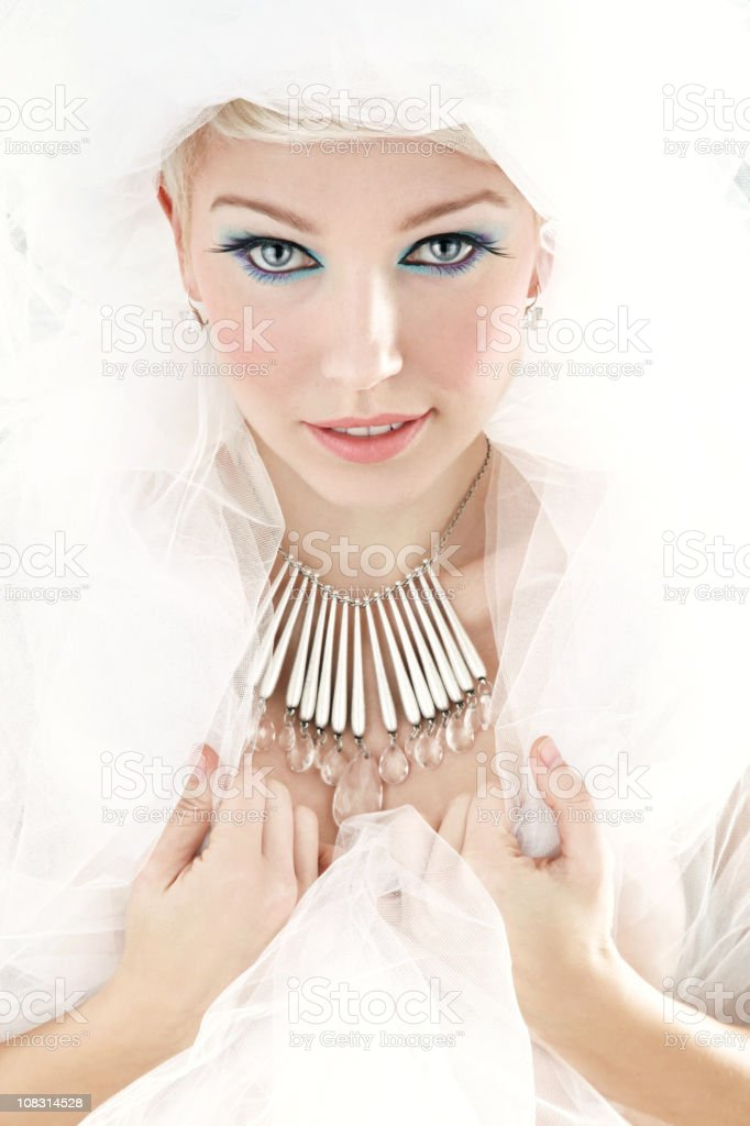 White femme fatale royalty-free stock photo