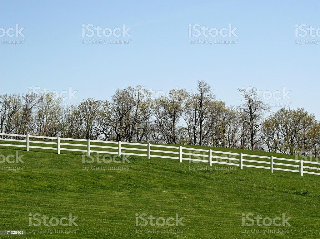 White Fence Landscape stock photo
