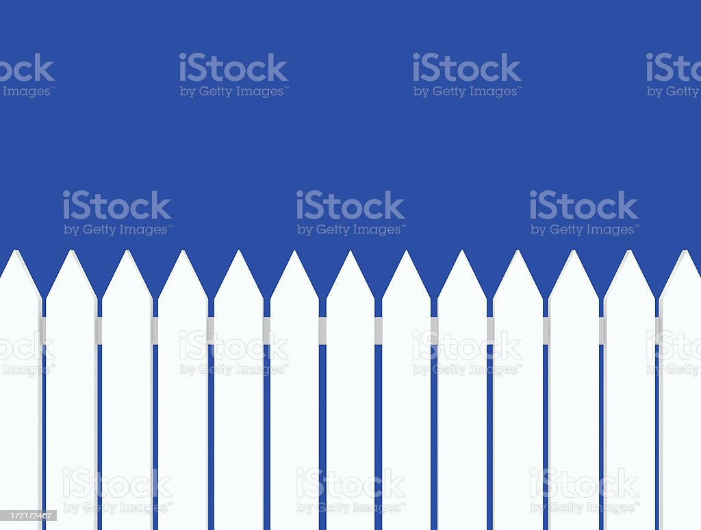 White Fence(XL) royalty-free stock photo