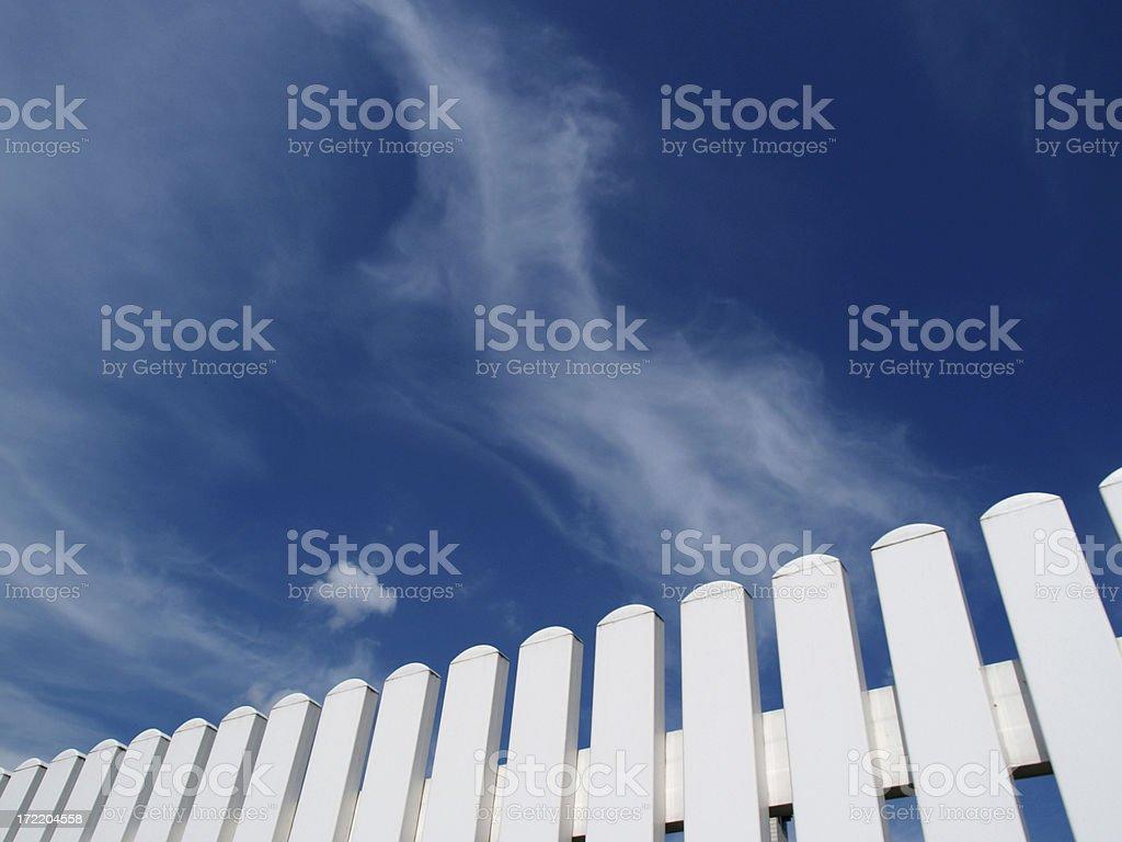 White fence royalty-free stock photo