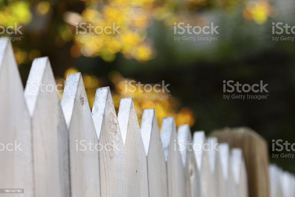 White Fence stock photo