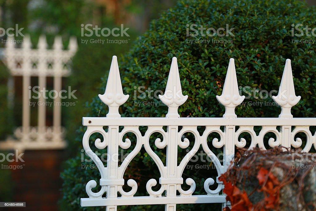 Valla blanca  foto de stock libre de derechos