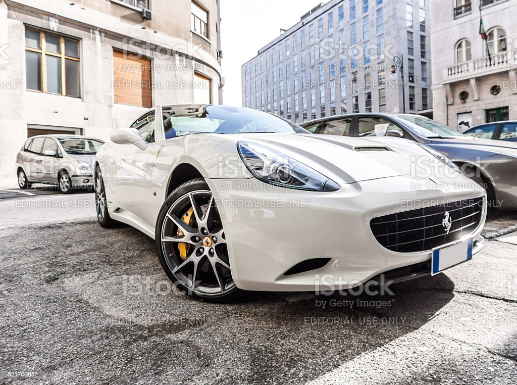 White Ferrari California Spider stock photo
