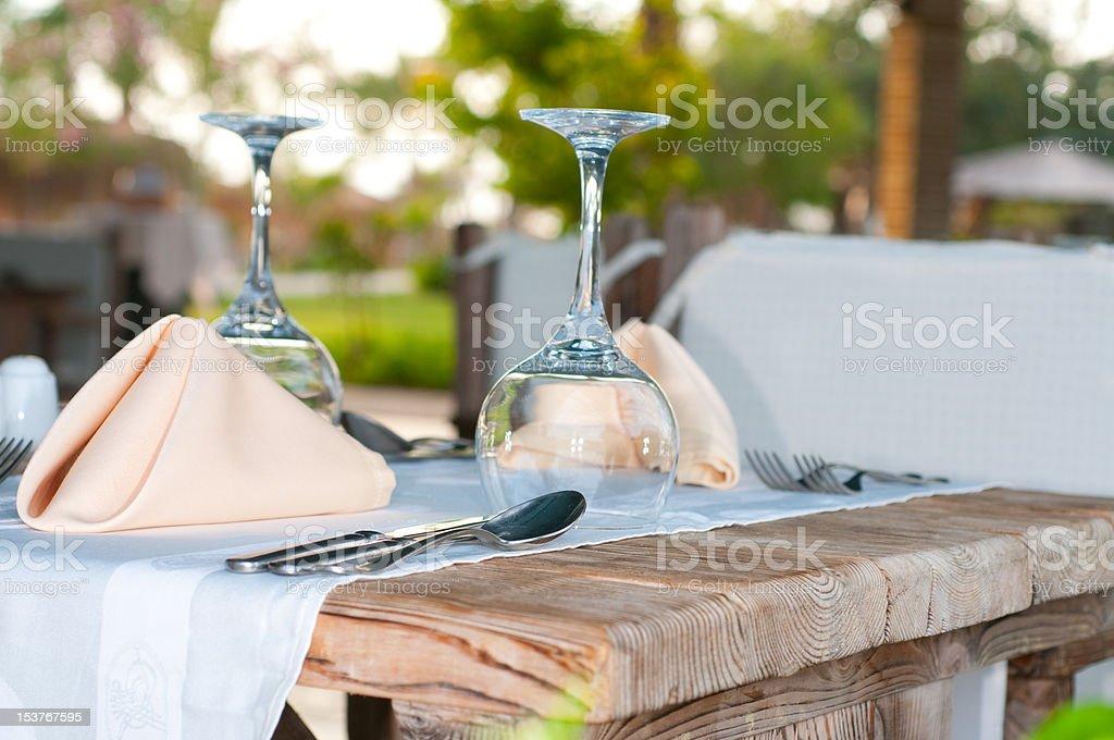 White Fine Table Setting. royalty-free stock photo