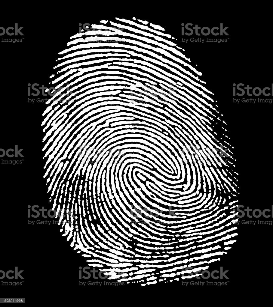 white fingerprint stock photo