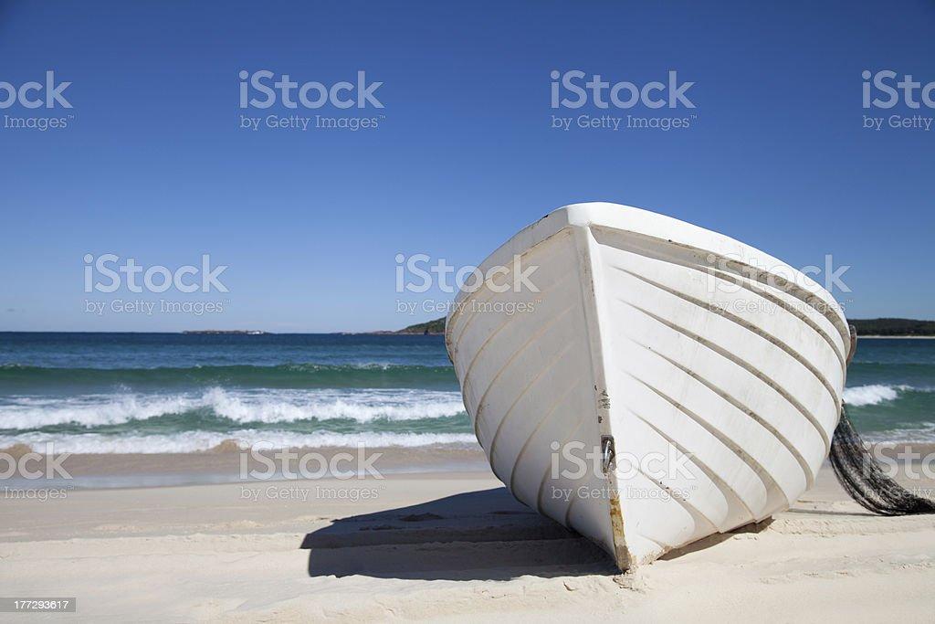 White Fishing Boat stock photo