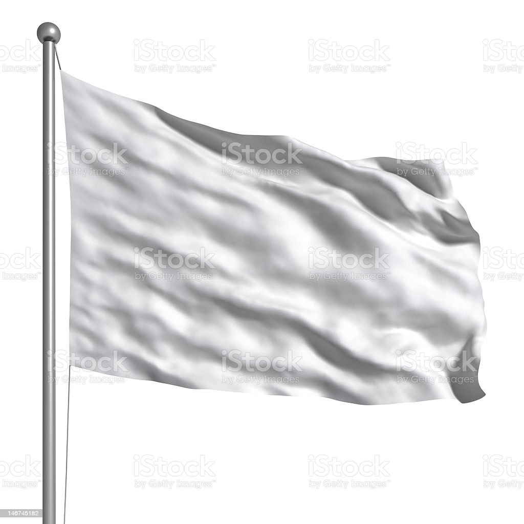 White Flag Isolated stock photo
