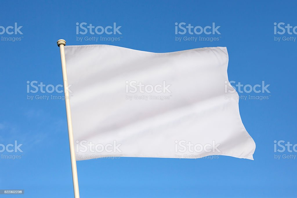 White Flag of Surrender stock photo