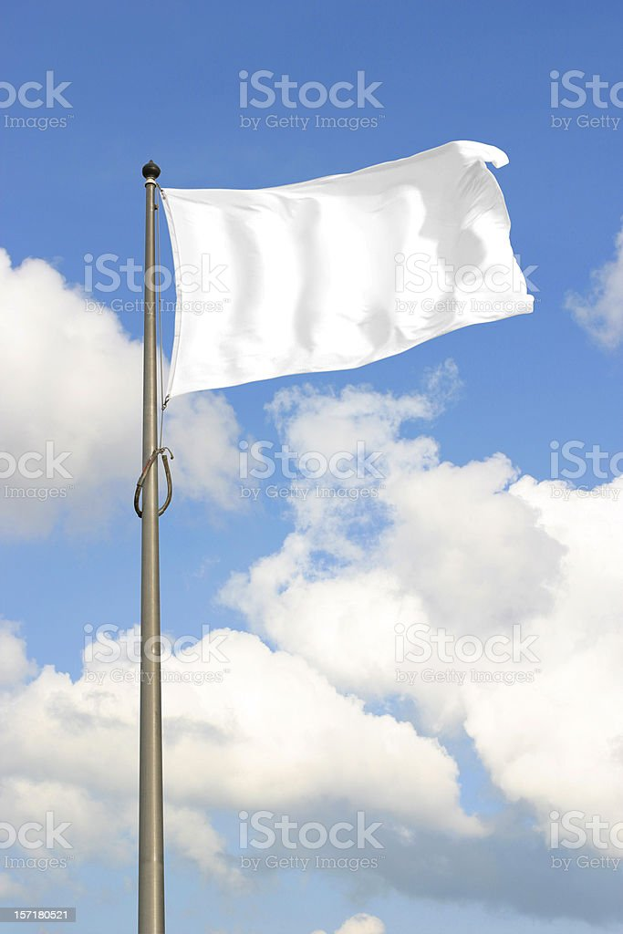 White Flag royalty-free stock photo