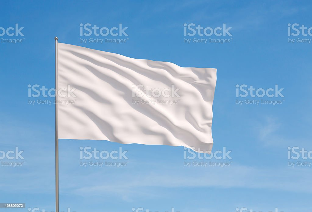 white flag stock photo