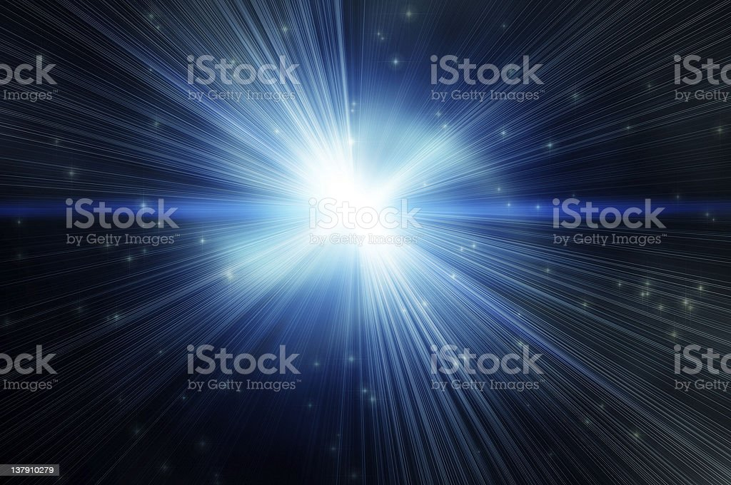 white flash on a star backgroudns stock photo