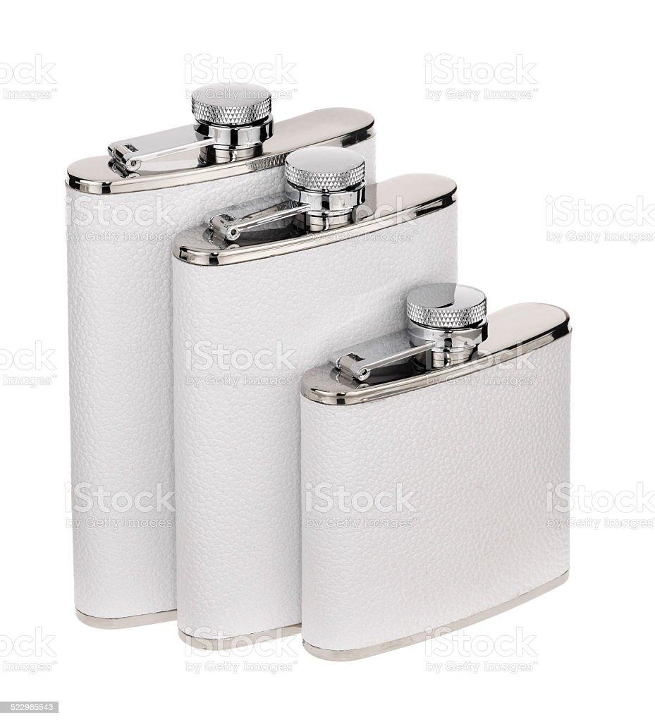 White Flasks stock photo