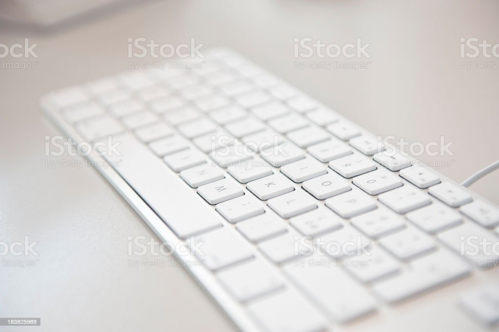 White flat keyboard from a MAC computer royalty-free stock photo