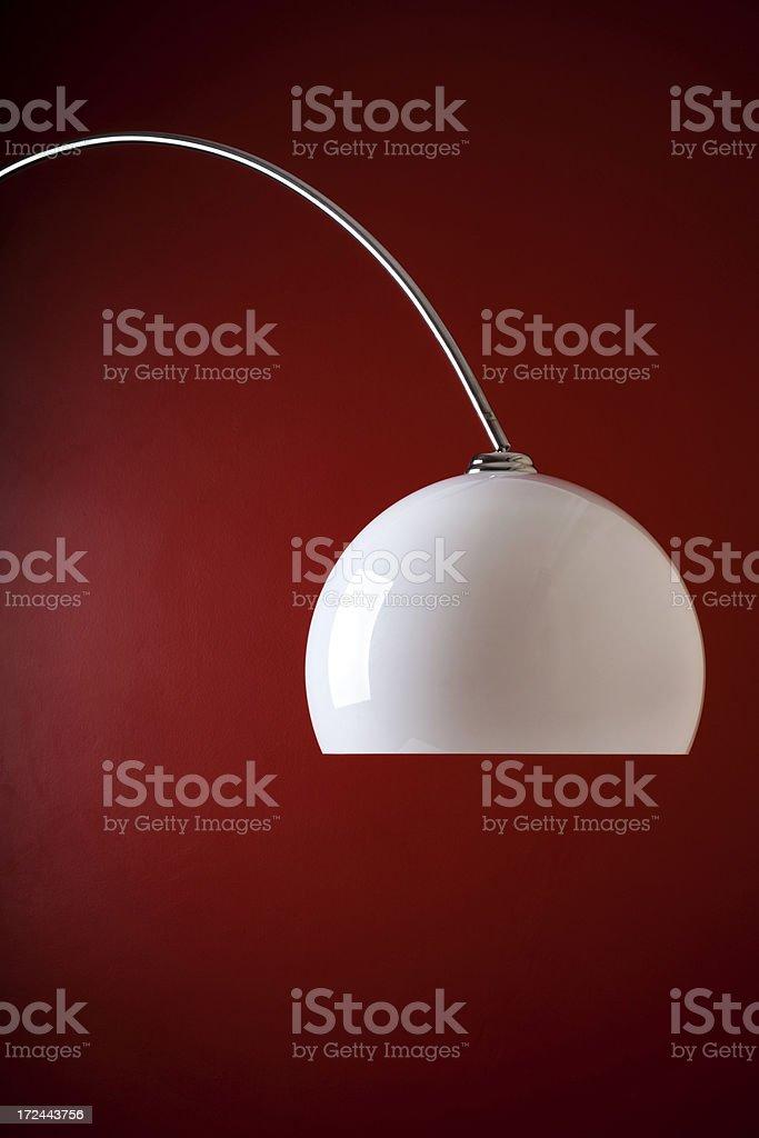 White floor lamp. royalty-free stock photo