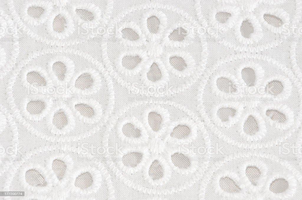 White Floral Pattern royalty-free stock photo
