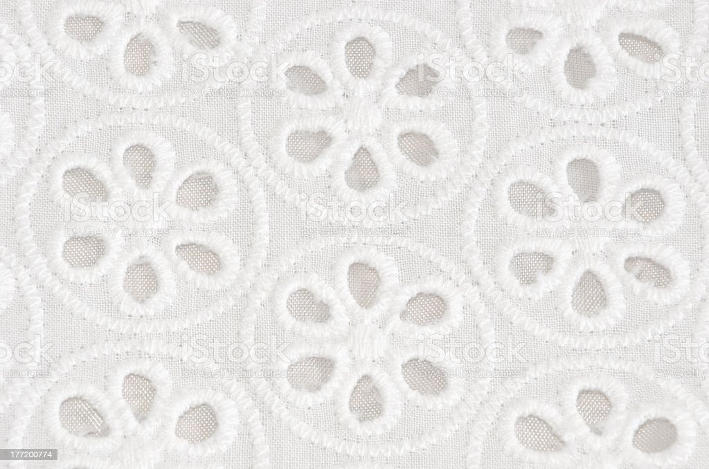 White Floral Pattern stock photo