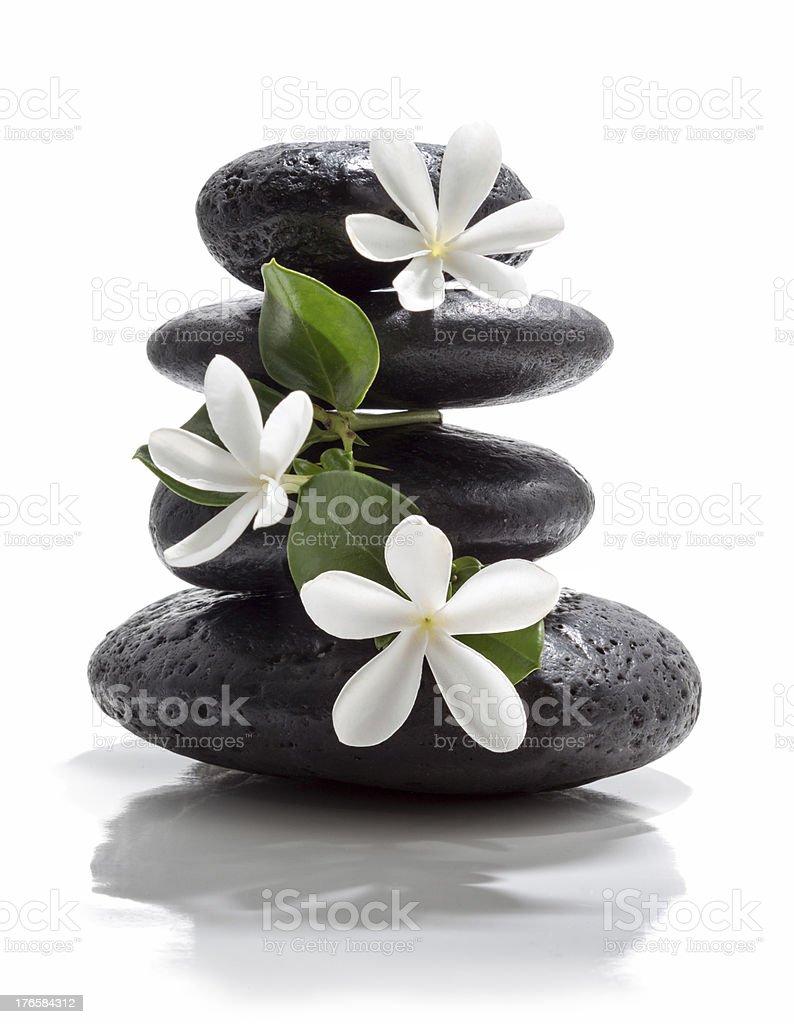 white flower massage stock photo