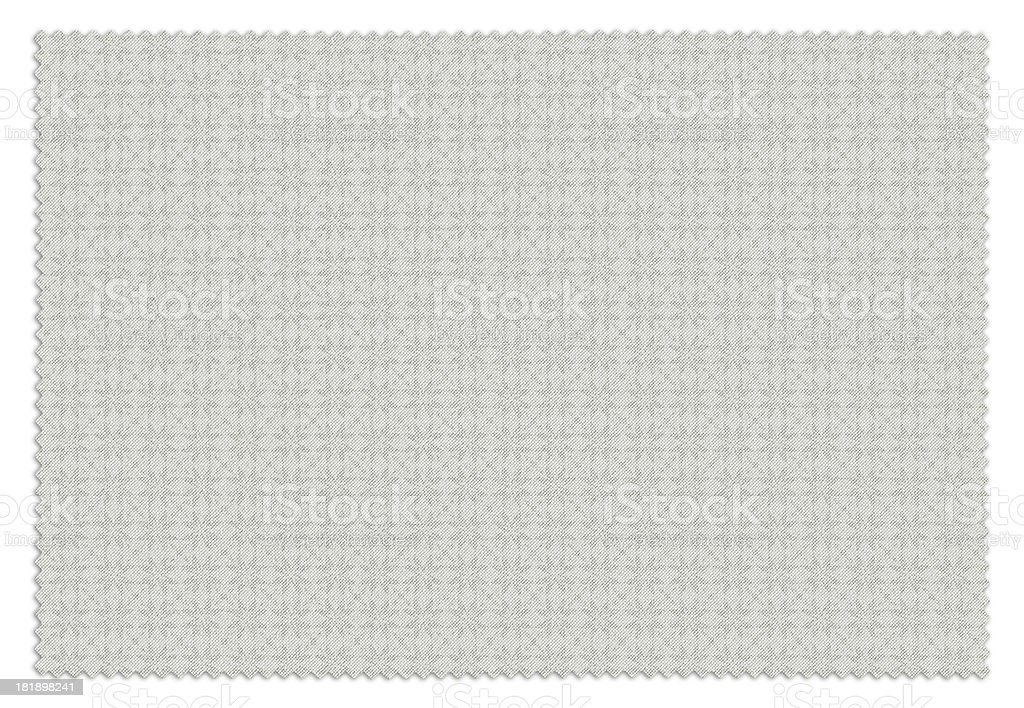 White Flower Patterned Swatch royalty-free stock photo