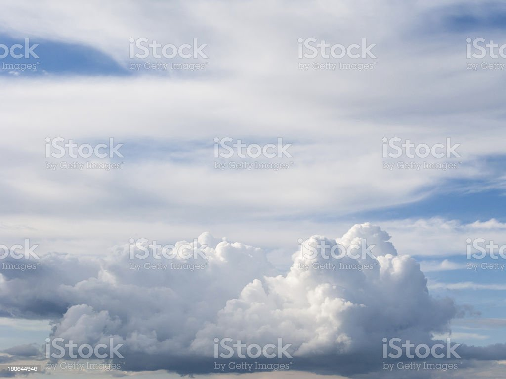 White fluffy cloud in blue sky background royalty-free stock photo