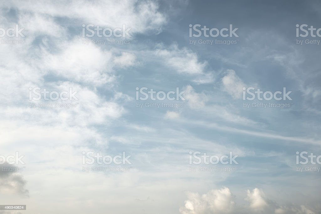 White fluffy cloud over blue sky stock photo