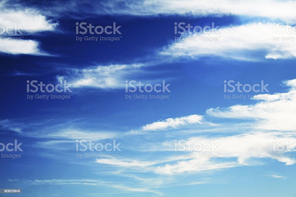 White fluffy clouds royalty-free stock photo