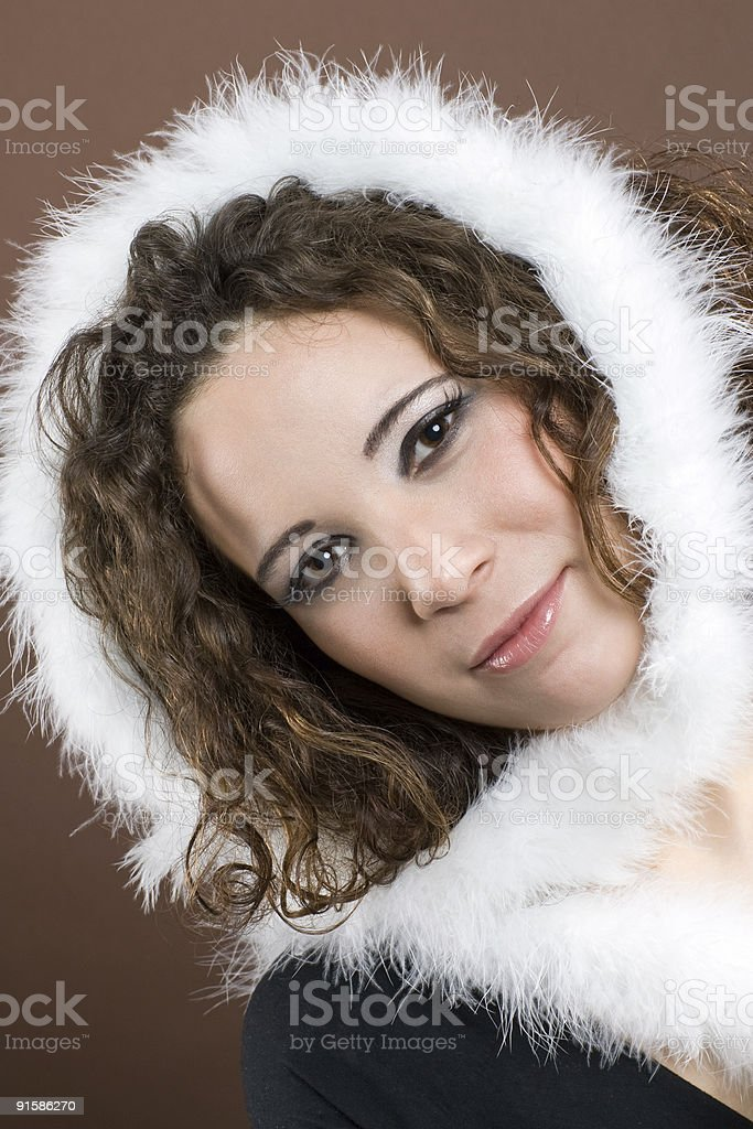 White fluffy feathers royalty-free stock photo