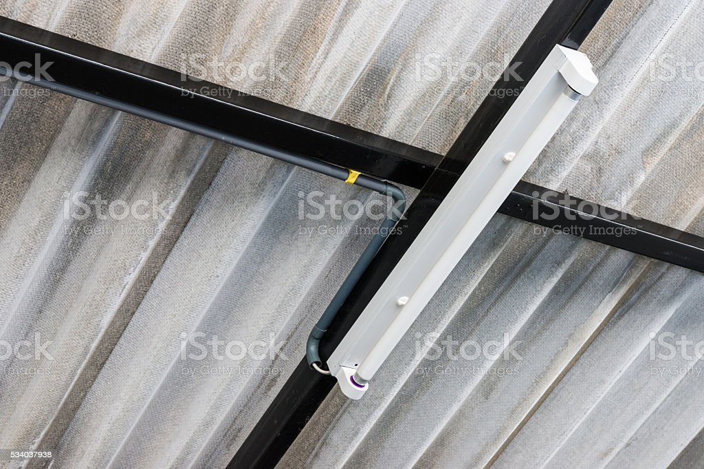 White fluorescent bulb stock photo